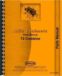 Allis Chalmers 72 Combine Parts Manual Catalog Pull Type All Crop Harvester