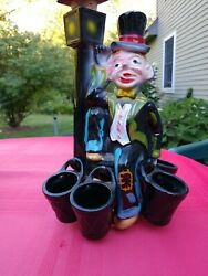 Hobo On Street light With 5 Flasks. TILSO JAPAN handpainted Decatur $24.00