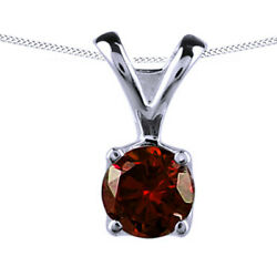 1.00ct Natural Diamond Solitaire Pendant 14k Gold Over 925 Sterling Silver -igi-