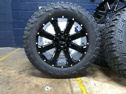 5 20x10 Ion 141 33 Mt Black Wheel And Tire Package 5x5 Jeep Wrangler Jk Jl Tpms