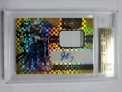 2016 Jacoby Brissett Rc Auto Jsy Select Gold 6/10 Bgs 9.5 With 2x 10s Pop 1