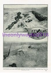 Russian Trench And Spot The Bayonets, Ww1, Book Illustration Print, 1915-18