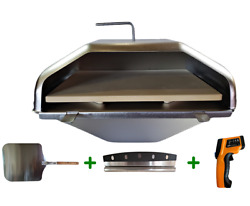 Gmg Daniel Boone And Jim Bowie Pizza Oven Attachment W/peel, Cutter And Temp Gun