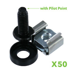 M5 Cage Nuts And Screws For Server Shelves Cabinets - 50 Pk Rack Mount