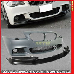 Front Bumper M Sport Style M-Performance Lip PDC For BMW 5-Series 11-13 F10