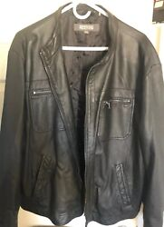 Kenneth Cole REACTION Men's Faux -Leather Moto Jacket New With Tags Size XXL