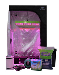 4 Plant LED Hydro Grow Tent Kit Complete With Ventilation System Light And Fan