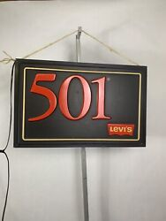 Rare Vintage Levi's 501 Light Up Store Display Sign Needs To Be Rewired