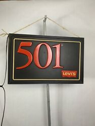 Rare Vintage Leviand039s 501 Light Up Store Display Sign Needs To Be Rewired