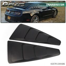 Fit For Ford Mustang 1/4 Quarter Side Window Louvers Scoop Cover Vent 05-14
