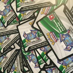 100x Unused Pokemon Hidden Fates Booster Pack Code Cards Tcgo Lot - Fast