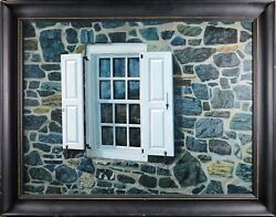 John B. Mclellan Signed Oil On Canvas Painting Close Up Historic Stone House