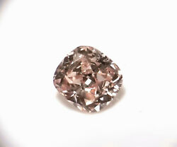 0.23ct Pink Diamond - Natural Loose Fancy Light Pink Cushion Si1 Gia Fancy Color