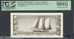 East Caribbean States 100 Dollars Ca. 1960s Reverse Proof Unissued Unique