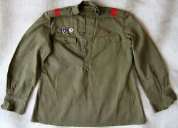 Vtg Man Set Ussr Russian Military Uniform 60 Years Trousers + Tunic Breastplate