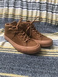 Converse One Star Mid Counter Climate Leather Brown Raw Gum Sneakers 11.5 rare