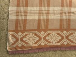 1940's Camp Trade Blanket Cabin Lodge Country Grandma's Vintage Apx 67x70