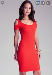 NWT Bebe Off Shoulder Red Dress P S Xxs Xs Small $50.00