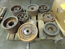 Lot Of 8 Pulleys / Shieves / Various Sizes