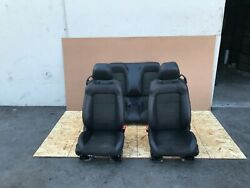 Ford Mustang Gt Convertible 2015-2019 Oem Front And Rear Seats Suede/black 18k