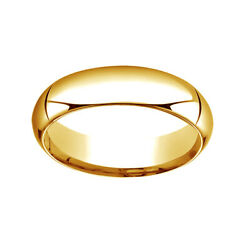 Dome Comfort-fit Engagement Band Ring 14k Yellow Gold 6mm