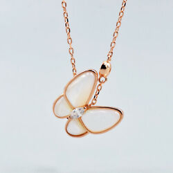 Love and Producer Lucien Butterfly Pendant Necklace S925 Shell Christmas gift
