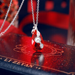 Love and Producer Victor Time Pendant Necklace Rose 925 silver Christmas gift