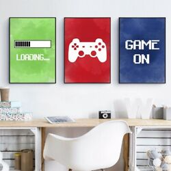 Video Game Posters Print Gaming Room Wall Decor Boys Gifts Canvas Art Painting