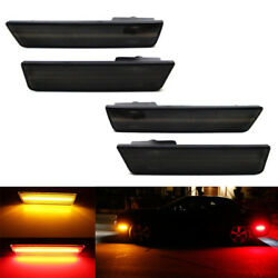 Smoked Lens Front Andrear Led Side Marker Lights Set For 2008-14 Dodge Challenger