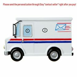Usps Postal Office Mailwoman Letter Delivery Car Personalized Christmas Ornament