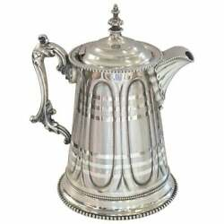 19th Century American Antique Silver Plate Pitcher By Rogers Smith And Co