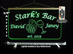 Personalized Led Man Cave Bar Sign- Garage Sign Gift For Dad -beer Mugs