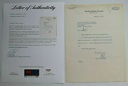 John F Kennedy Signed Letter John To Politician Andrew Quigley Dated 1956 Psa