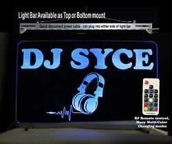Dj Booth Sign, Personalized Led Sign, Man Cave Ideas - Lighted Sign - Dj Gifts