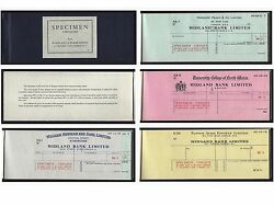 United Kingdom, Booklet Cheque,containing Different Specimen Of 59 Cheques 1961