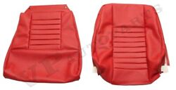 Volvo P1800 64-70 Red Front And Rear Seat Cover Kit Made In Sweden 691037-38