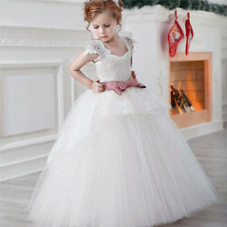 Flower Girl Dress For Wedding Tulle Lace Bridesmaid Gown Pageant Formal Dresses