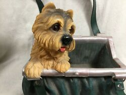 Vintage Yorkie Purse Planter Box Resin - Shaped Like a Purse - Yorkshire Terrier