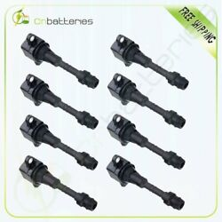 Pack Of 8 Ignition Coil For Nissan Pathfinder Titan Infiniti Qx56 C1483 Uf510