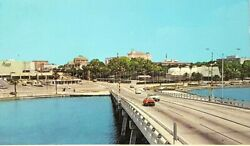 Clearwater Florida from Causeway Bridge to the Beach Old Vintage Postcard A9b $86.99