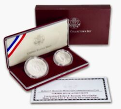 1998-s Robert F. Kennedy And John F. Kennedy Commemorative Silver Setcomplete