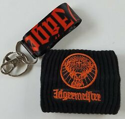 Brand New Jagermeister Lanyard Liquor Whiskey Accessories Key Chain And Armband.