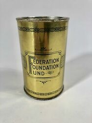Federation Foundation Fund, A Penny A Day Tin Coin Bank