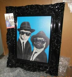 Takkoda Art Pets Rock Blues Brothers High-resolution Printed And Frame 21 X 17