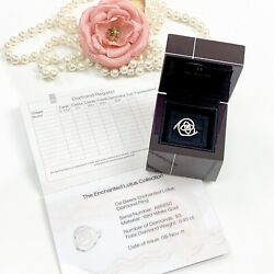 De Beers The Enchanted Lotus Diamond Ring 0.45 Ct 18kt White Gold