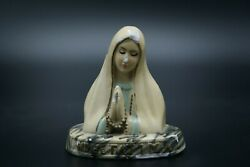 † 1920's Our Lady Of Fatima Bust Plaster Chalkware Marian Apparition Portugal †