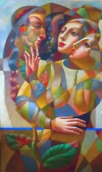 """""""Gentle Touch"""" by Oleg Zhivetin Large Oil on Canvas  80"""" x 48"""" Signed Original"""