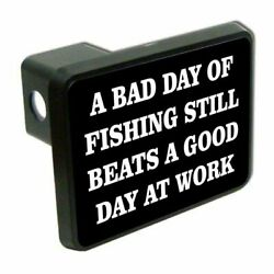 A Bad Day Of Fishing 2 Tow Trailer Hitch Cover Plug Car Truck Receiver Funny