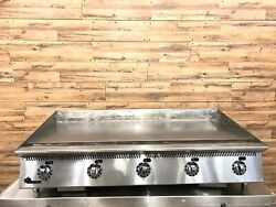 Star 2018 860TA 60″ Natural Gas Thermostatic Gas Griddle – 1″ Steel Plate