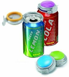 Jokari 4 Pack Soda Pop Beer Can Pump And Pour Fizz Keeper Lid - Keeps Carbonated